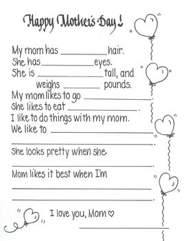 Mother's Day 'Letter'