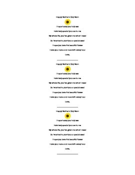 Mothers Day Poem