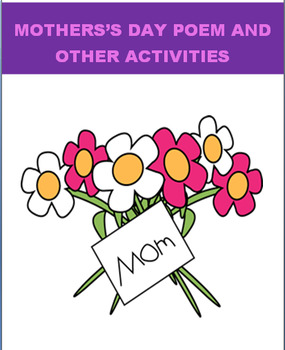 Mothers Day Poem/Activities packet