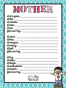 Mother's Day Poem Activity