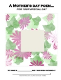 Mother's Day Poem Book Arts Craft Activity and Children's Art Drawings and Pix