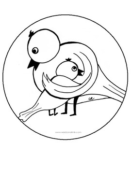 Under Your Wing - Mother's Day Poem and Craft Templates