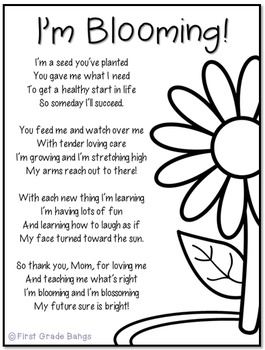 Mother's Day Poem and Craftivity
