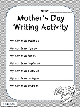 FREE Mother's Day Poetry Activities