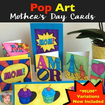 Pop Art Greeting Cards Make for a Fun Mother's Day Craft!