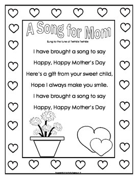 Mother's Day Cards (Pop~up) and Writing Projects