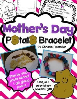Mother's Day Potato Bracelet Tutorial and Gift Poem
