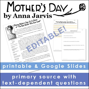 Mother's Day Primary Source
