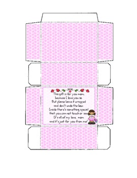 photograph about Printable Gift Box identified as Moms Working day Printable Reward Box Template