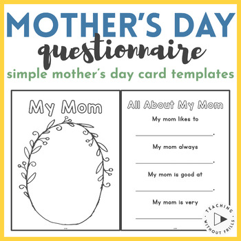 Mother's Day Printable Questionnaire
