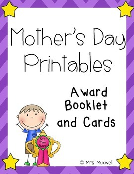 Mother's Day Printables {Award Booklet and Cards}