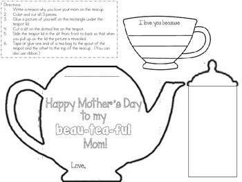 Mother's Day Project Teapot