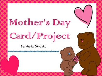 Mother's Day Project (card/book)