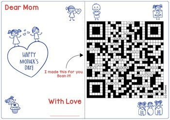 Mother's Day QR Code English Activity with Gift Card