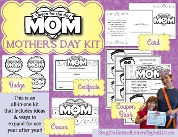 Mothers Day QUEEN FOR THE DAY kit