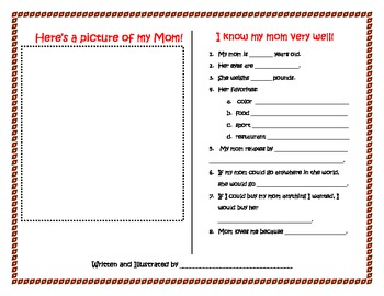 Mother's Day Questionaire