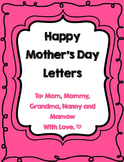 Mother's Day Questionaire and Letters