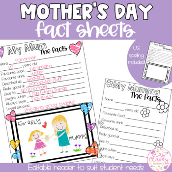 Mother's Day Questionnaire - English & American Spelling