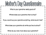 Mother's Day Questionnaire for Grandma