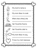 Mother's Day Questions - MOM and MUM VERSIONS
