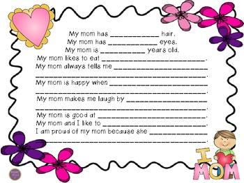 Mother's Day Questions, Directions, and Plurals