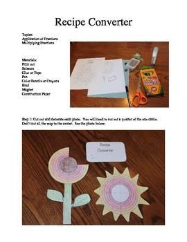 Mother's Day Recipe Converter - Multiplying Fractions