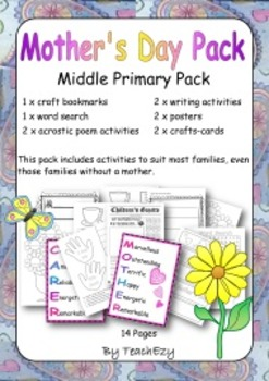 Mother's Day Resource Pack for Middle Primary
