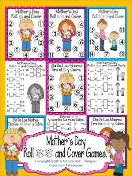 Mother's Day Roll and Cover Games.