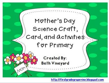 Mother's Day Science Gift and Fun Literacy Activities