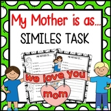Mothers Day Simile Poem Activity - Super fun!