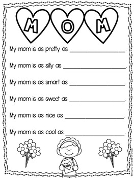 mother 39 s day simile poem freebie by a sunny day in first grade. Black Bedroom Furniture Sets. Home Design Ideas