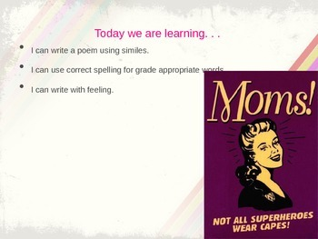 Mother's Day Simile Poem PPT