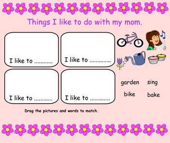 Mother's Day Smartboard FREEBIE Gr. 1
