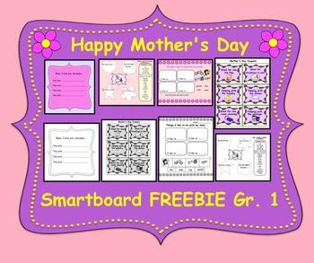 Mother's Day Smartboard FREEBIE Gr. 1