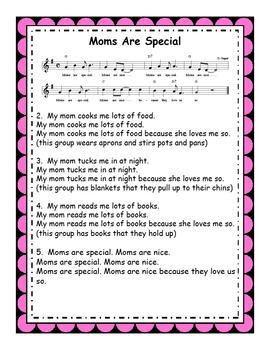 Mothers Day Song & Activities: Moms Are Special MP3s & Reproducibles
