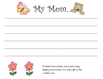Mother's Day Special Booklet