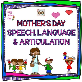 Mother's Day Speech, Language, Literacy and Articulation Therapy Packet