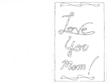 Mothers Day  Stained Glass Card