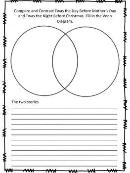 Mother's Day Story Sequence and Venn Diagram