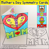 Mother's Day Cards Lines of Symmetry Activity