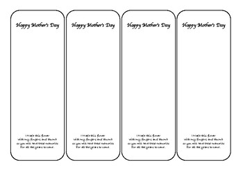 Mothers Day Tag/bookmark