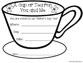 Mother S Day Tea Invitation Freebie By Top Of Texas Teachers Tpt