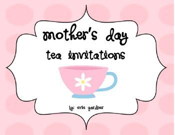 Mother's Day Tea Invitations