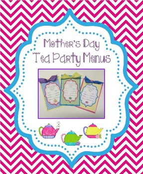 Mother's Day Tea Party Menus