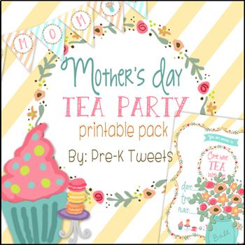photo relating to Tea Party Printable called Moms Working day Tea Celebration through Pre-K Tweets Academics Fork out Lecturers