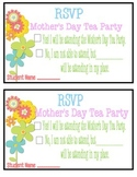 Mothers Day Tea RSVP Card