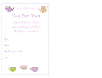 Mother's Day: Tea for Two