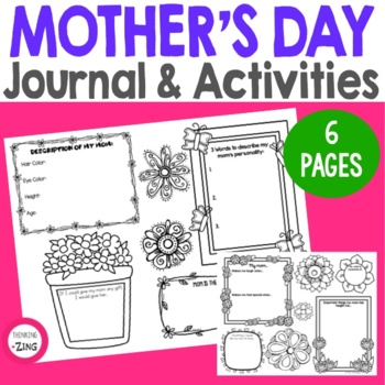 Mother's Day Writing Activity   Student Journal