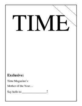 Mother's Day Time Magazine Mother of the Year Project