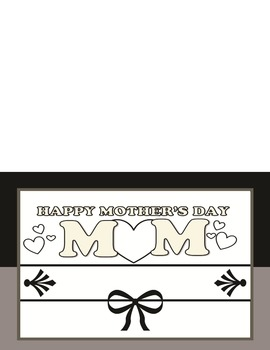 Mother's Day Top Folded Booklet